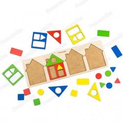Маленькие геометрические домики