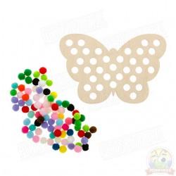Бабочка с помпонами