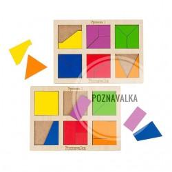 Квадраты Никитиных «Сложи квадрат 1 уровень»