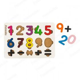 Цифры на плашке