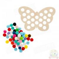 Бабочка с большими помпонами