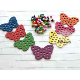 7 бабочек с помпонами