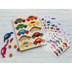 Цветные машинки 10 цветов