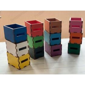 Цветные коробочки 12 шт